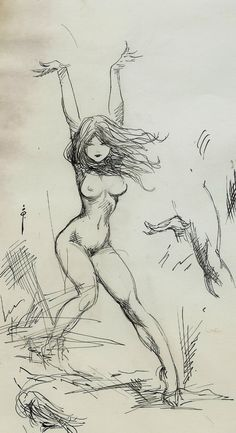 Frazetta- Dancing Nude Pin Up! Ink drawing Comic Art | Frazetta | Pinterest  | Pin up, Ink and Art