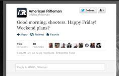 American Rifleman had even het Badman bloedbad gemist... En kwam met deze tweet, de dag na de gebeurtenis! #socialmediafail