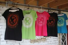 My take on DIY Hunger Games shirts. Complete with directions! Careful, it involves bleach.