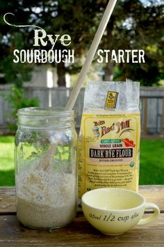 Rye Sourdough Starter is - by far - the easiest sourdough to start. All you need is rye flour and water. [Post also includes recipes & resources for Sourdough Beginners. Rye Bread Recipes, Sourdough Recipes, Bread Machine Recipes, Flour Recipes, Baking Recipes, Rye Sourdough Starter, Yeast Starter, All You Need Is, Pan Relleno