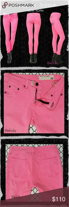⭐ Rag & bone Legging skinny stretch jeans Show stopping hot pink 'The Legging' from Rag & bone.  Lots of stretch, super soft, lightweight. See last photo for fabric content etc NO TRADES PLEASE! OFFERS WELCOME THROUGH OFFER FEATURE ONLY PLEASE! rag & bone Jeans Skinny