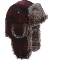 Incredible warmth and comfort when you need it most, you'll love sporting the Men's Maroon Plaid Wool Faux Fur Hat out on the trail. Lined with a soft, cozy faux fur and featuring earflaps that button up or down for easier hearing, this hat is what's been missing from your winter wardrobe. Pull on the Mad Bomber® Men's Maroon Plaid Wool Faux Fur Hat and experience warmth and comfort like never before.