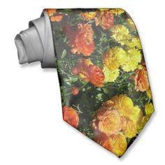 Krawatte Bltenmeer gelb orange