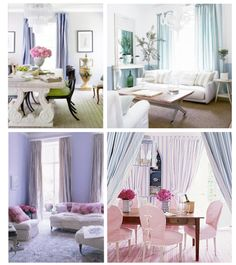 White with bright colors to make a bright room pop!