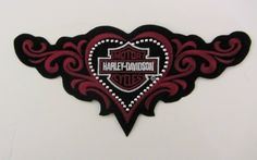 Harley Davidson Motorcycle Cycles Embroidered Winged Bar and Shield Patch NEW | eBay