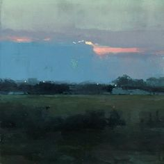 Atmosphere Vicino a Taranto - 6 x 6 inches - Oil on Panel - Abstract Landscape Painting, Landscape Art, Landscape Paintings, Contemporary Landscape, Contemporary Paintings, Paintings I Love, Painting Prints, Nocturne, Arte Floral