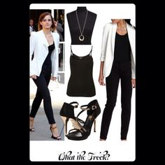 - Affordable Fashion Tips, Celebrity Looks for Less: Celebrity Look for Less: Emma Watson Style Office Outfits Women, Mode Outfits, Casual Outfits, Fashion Outfits, Womens Fashion, Fashion Tips, Fashion Trends, Woman Outfits, Club Outfits