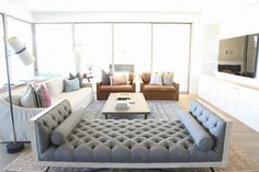 Living Room - The DIY Exchange - Living Room Livable Costal Modern Home - Becki Owens - Daybed In Living Room, Living Room Furniture Layout, Living Room Chairs, Home Living Room, Living Room Decor, Apartment Furniture, Bedroom Furniture, Indian Living Rooms, Coastal Living Rooms