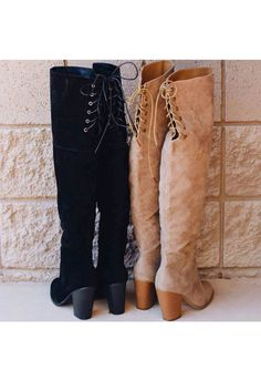 Locklyn Suede Knee High Boots - Taupe – Shop Priceless