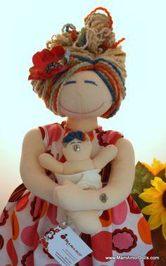 VBAC Birthing and Breastfeeding MamAmor doll - PENELOPE | MamAmor Dolls