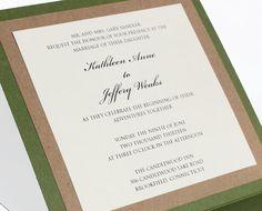 Rustic Wedding Pocket Invitation by TheMemoryTrunk on Etsy, $3.50