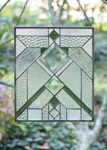 Stained Glass Panel by Karen Reed, instructor at the John C. Campbell Folk School | folkschool.org