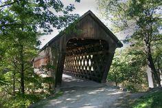 Henniker Covered Bridge in Henniker, N.H.