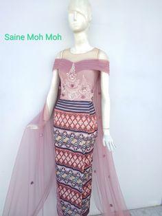 Traditional Dresses Designs, Myanmar Dress Design, Kebaya Dress, Myanmar Traditional Dress, Sunday Dress, Smart Dress, Fashion Design Sketches, Begonia, Kai