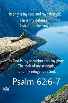 bible verses psalms 62:7 - Google Search