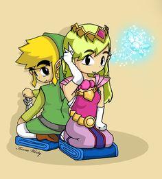 Zelda and Link by *KevinWerty on deviantART