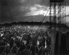 Woodstock 1969 The storms rollin in...