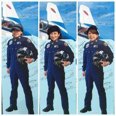 ブルーインパルスの航空ショー in 芦屋基地
