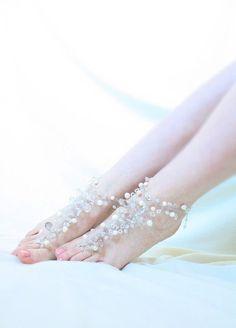 Cavigliere - Sandali a Piedi Nudi, Sandali Gioiello Sposa - un prodotto unico di SusyDeMarchiJewelry su DaWanda