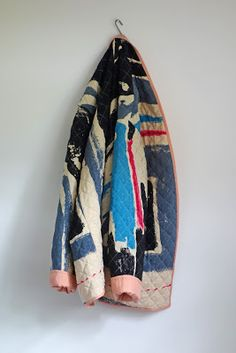 not so pattern-based, more like its painted on- interesting use of quilting to pad out a garment into a coat