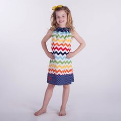 Check out this Rainbow Chevron Navy Dot Ruffle Neck Dress or find your favorite gifts at Lolly Wolly Doodle. Click on the link to receive $3 off your next order!