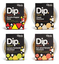 Clive's Organic Dips package design