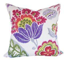 Braemore Ikat Kazoo Ruby Pillow Cover by PillowTimeGirls on Etsy Toss Pillows, Throw Pillow Covers, Accent Pillows, Floral Pillows, Colorful Pillows, Modern Decorative Pillows, Hand Painted Furniture, Pillow Design, Ikat