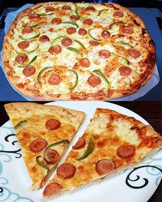 Πίτσα με τραγανή ωραία ζύμη !!!! ~ ΜΑΓΕΙΡΙΚΗ ΚΑΙ ΣΥΝΤΑΓΕΣ Cookbook Recipes, Cooking Recipes, Greek Recipes, Quiche, Donuts, Food And Drink, Pizza, Cheese, Breakfast