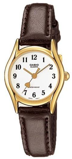 Casio Ladies Classic White Analog Dial Brown Leather Band Watch [LTP-1094Q-7B5] price, review and buy in UAE, Dubai, Abu Dhabi | Souq.com