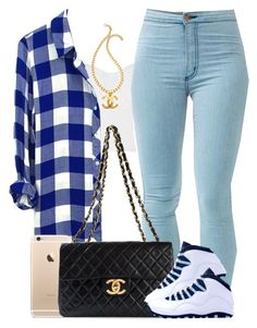 """""""50 Shades of Blue"""" by livelifefreelyy ❤ liked on Polyvore featuring Rails and Chanel"""