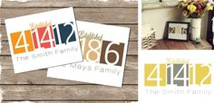 Personalized+Family+Print+-+5+Color+Combinations+to+Choose+From! at VeryJane.com