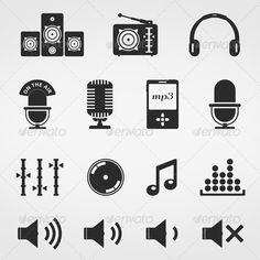 Music and Sound Icons  #