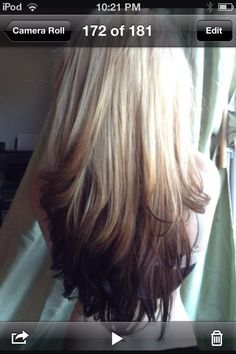Blonde with brown tips!!
