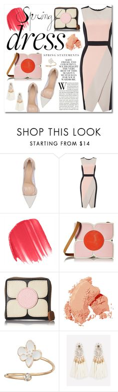 """Sweet Spring Dresses"" by miee0105 ❤ liked on Polyvore featuring Gianvito Rossi, Miss Selfridge, Urban Decay, Orla Kiely, Folio, Bobbi Brown Cosmetics and LC Lauren Conrad"