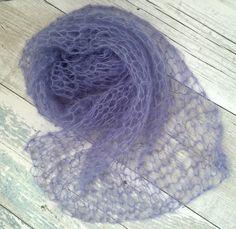 Lavender Newborn Wrap, Light Purple Mohair Newborn Stretch Wrap, Hand Knitted Swaddle Wrap, Newborn Wrap Prop, Newborn Photography Prop by SnugCreations on Etsy