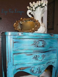 turquoise painted furniture,