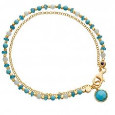 I love this 18 karat yellow gold  vermeil turquoise apatite and amazonite alternating friendship bracelet from astleyclarke.com
