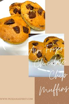 Chocolate Chip Recipes, Chocolate Chip Muffins, Fun Desserts, Delicious Desserts, Nu Wave Oven, Air Fryer Recipes Vegetarian, Silicone Cupcake Liners, Vegas Vacation, Chocolate Lovers