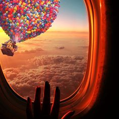 Feeling just inside that baloon
