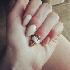 hate this shape of nails but the ice-cream is worth it!:) *