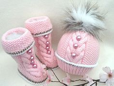 Knitting PATTERN for Babies Knitted Baby Set Baby Shoes