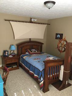 Pirate Bedroom w/ Custom Sail/Steering Wheel