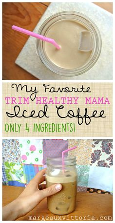 Trim Healthy Mama iced coffee - an easy and refreshing summer drink!