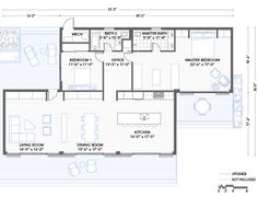 contemporary style house plan - 3 beds 2.5 baths 2180 sq/ft plan