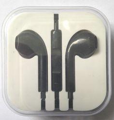 iPhone 5 5S 5C Headphones Earpods Handsfree with Mic and Volume Controller Black