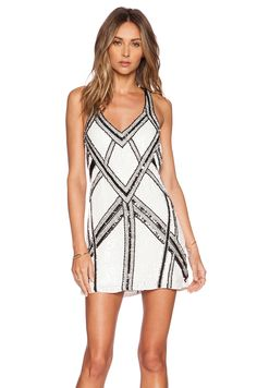 Love this black & White dress by Parker! #REVOLVEclothing