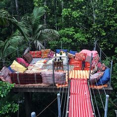 Canopy hideout spot / South Wales Australia. I like the platform and sitting in the trees, but would prefer a chair and table.
