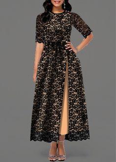 Dresses For Women Modest Dresses, Stylish Dresses, Elegant Dresses, Nice Dresses, Casual Dresses, Lace Maxi, Lace Dress, Latest Dress For Women, Half Sleeve Dresses