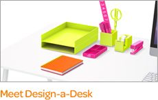 Poppin-cute desk stuff and laptop bags