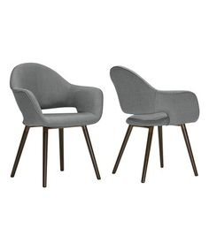 Love this Gray Adel Retro Arm Dining Chair - Set of Two on #zulily! #zulilyfinds